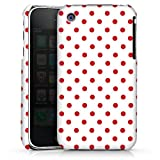 DeinDesign Coque Compatible avec Apple iPhone 3Gs Étui Housse Motif Polka Points Blanc Rouge