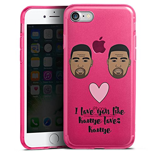 Apple iPhone 7 Silikon Hülle Case Schutzhülle Motiv ohne Hintergrund Kanye West Statement Silikon Colour Case pink