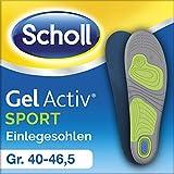 Scholl GelActiv Einlegesohlen Sport - Ergonomisches, leichtes Design für Laufschuhe, Turnschuhe und Sneakers - 1 Paar, passend für Schuhgröße 40-46,5