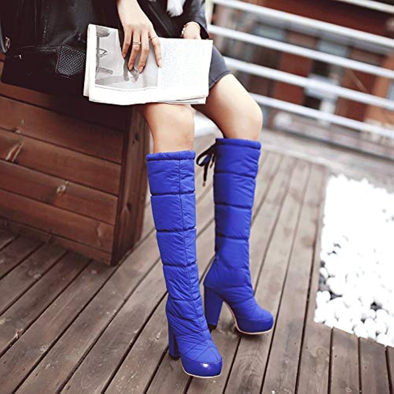 GaoXiao_ 2018 Inverno Ispessimento Caldi Stivali da Neve Signora Gao tongxue,Blu   prezzo di sconto speciale    Scolaro/Ragazze Scarpa