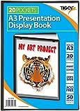 Tiger 20 A3 Pocket Presentation Display Book - Black