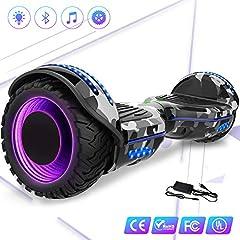 Idea Regalo - Mega Motion Self Balance Scooter Elettrico 6.5'' E-Star,Scooter Elettrico Auto bilanciamento, Ruote con LED, Tenda LED, Altoparlante Bluetooth, Motore 700W,Modello E-Star