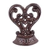 Arrêt/butée de porte en forme de cœur de style antique en fonte - cadeau pour...