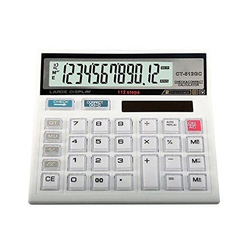 Dixinla Hesap makinesi 12-stellige Bürobedarf Anzeige finanzielle Solar Schreibtisch Gesicht