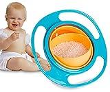 Reizbaby Kinderschale 360-Grad-Drehung Balance Schüssel Gyro Bowl Baby Schüssel keine Sprinkle keine Spill (blau)