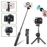 Selfie Stick, Bwei Bluetooth Selfie Stick Stativ, 3 in 1 Erweiterbar Mini Pocket Selfie Stangen für iPhone, Kamera, Samsung Galaxy, Huawei HTC Xiaomi Gopro
