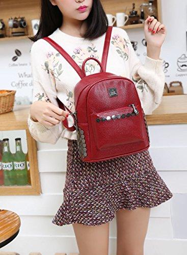 Valin S795 femme Sacs portés dos,23x26x13.5(BxHxT) Rouge