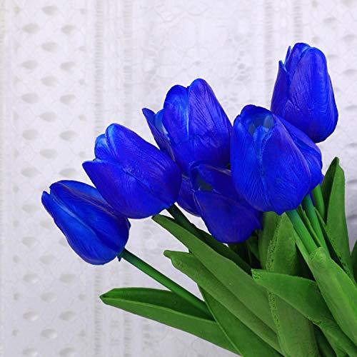 Floral Kingdom Tulpen für Tafelaufsätze, Blumengestecke, XL, 66 cm, 5 Stück Pacific Blue -