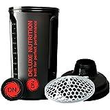 Deluxe Nutrition Shaker Bottle 700ml Panther Black