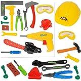 alles-meine GmbH 14 tlg. Set -  Bauarbeiter & Handwerker - Werkzeug & Zubehör  - für Kinder -..