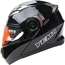 YEMA Helmet YM-925 Casco Moto Modular con Doble Visera