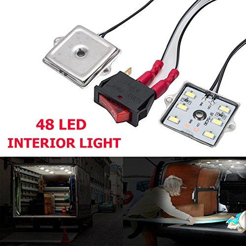 MASO, Kit di luci per Interni Auto, 40 LED, Ultra Luminose, Lampada da Lettura, Proiettile, Luce di Lavoro per Camion, Kit Auto, Camper, roulotte, plafoniera (DC 12V Bianco)