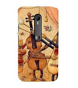 99Sublimation Guitar as Cartoon 3D Hard Polycarbonate Back Case Cover for Motorola Moto G3 :: G 3rd Gen :: G Gen 3 :: G Dual SIM 3rd Gen :: G3 Dual SIM