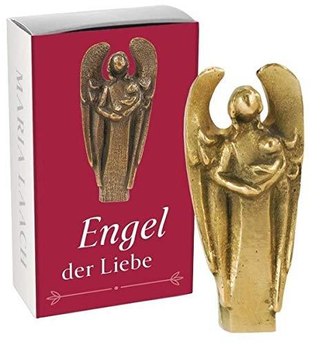 """Handschmeichler \""""Engel der Liebe\"""" Devotionalie Original Bronze Handarbeit Kunstverlag Maria Laach 801116/7"""