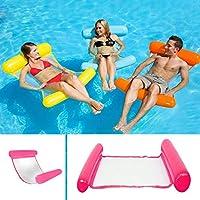 Sinwind Aufblasbares Schwimmbett, Wasser-Hängematte 4-in-1Loungesessel Pool Lounge luftmatratze Pool aufblasbare...