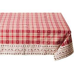 viscio Trading 173104Mantel Tela Escocesa, algodón, rojo, 140x 240x 0,03cm