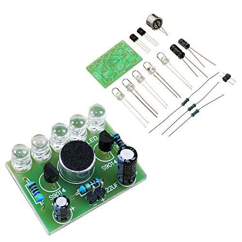 Be82aene 5 MM Highlight DIY LED Blitz Elektronische Trainingsausrüstung 3 stücke DIY Sprachgesteuerte Melodie Licht