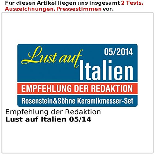 Rosenstein & Söhne Nakiri-Keramik-Hackmesser, 15-cm-Klinge (schwarz) - 5
