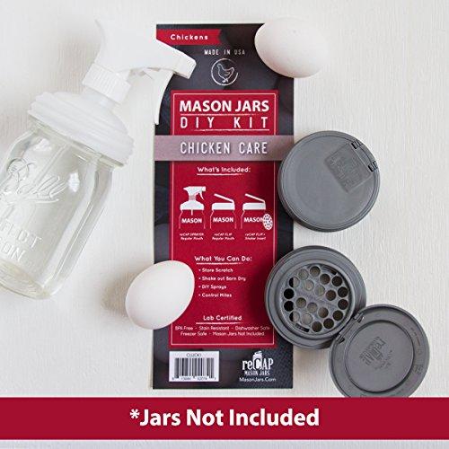 reCAP Mason Jars DIY Kit, Hühnerpflege, Gläser Nicht im Lieferumfang enthalten -