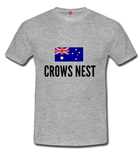 T-shirt Crows nest city grigia