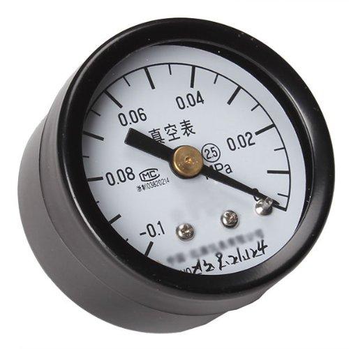 WEONE 2,5 Grad M10 Vakuum Manometerabsperrventile Axial-Luftdruck -Meter 40mm Dial Durchmesser -0.1-0Mpa