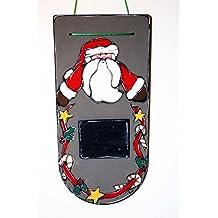 Calendrier de l'avent père Noël - Tableau père noël avec décompte des jours - Plaque de porte père noël