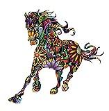 Kreative Wandaufkleber 60X90 Cm Bunte Blume Pferd Aufkleber Für Schlafzimmer Wohnzimmer Tv Hintergrund Dekorative Pvc Wandaufkleber
