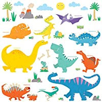 Decowall Dinosaur Kids Wall Stickers Wall Decals Peel and Stick Removable Wall Stickers for Kids Nursery Bedroom Living Room 1703 8008 1505 8019 1803