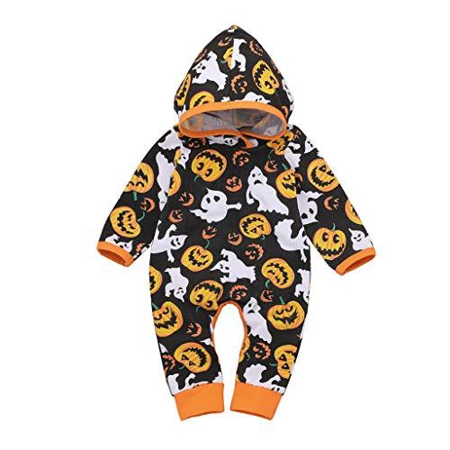 Cuteelf Infant Halloween Kapuzen Langarm Kürbisoverall Neugeborenes Baby Kapuzenoverall Kürbis Halloween Kostüm niedlichen Kürbisoverall leicht zu - Niedlichen Baby Monster Kostüm