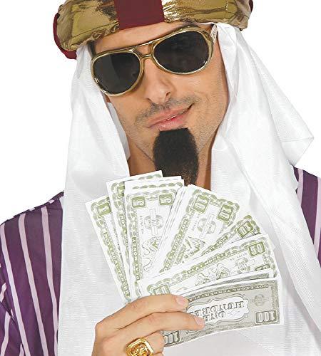 shoperama 75 Dollar Scheine Spielgeld Papier-Geld Scheich Dandy Gangster Mafioso Proll Playboy Kostüm-Zubehör Dekoration (Kostüm Play Boy)