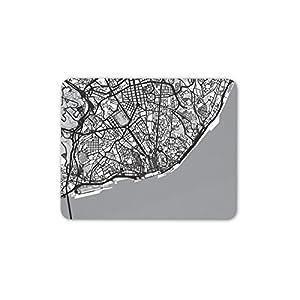 Lisboa Portugal mapa urbano tapete de ratones Cojín – Viajes Europa PC Ordenador regalo # 8415