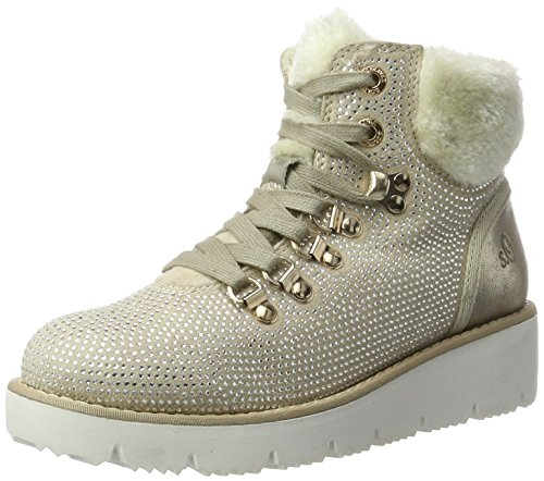 Stiefel, Grau (Ice), 38 EU (Damen Grau Keil Stiefel)