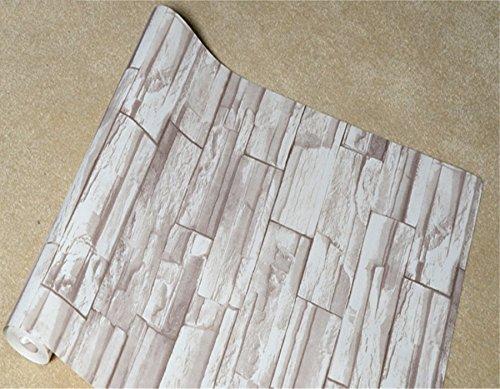 JSLCR Vintage PVC Nachahmung chinesische Tapete stilvolle Backstein Muster Wohnzimmer Ziegel funktioniert 3D TV-Tapeten,08140