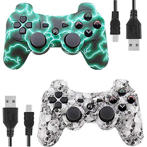 Gollec Wireless Controller Remote Gamepad für PS3 Playstation 3 Double Shock mit USB-Ladekabel