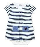 Petit Bateau Baby-Mädchen Kleider Robe Body_24256, Mehrfarbig (Ecume/Delft 50), 80 (Herstellergröße: 12m/74cm)