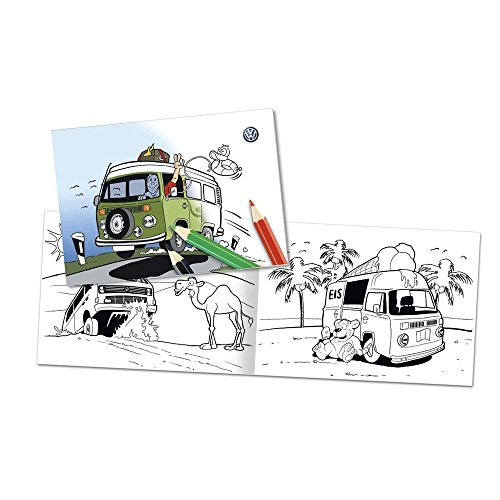 Original Volkswagen Bulli Malbuch 000087703ED