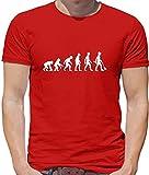T-shirt Evolution of Man Garden - homme - motif jardinier - rouge - XXL