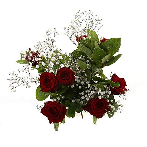 Choice of Green - 1 bouquet rouge Sensation rouge - 15 tiges - Hauteur ? 60 cm - Qualité hollandaise