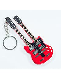 Llaveros de madera con forma de guitarra - Led Zeppeling - Jimi Page