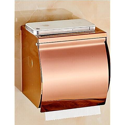 LQK-Rose neoclassico finitura oro Ottone porta-carta igienica