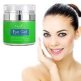 Augencreme, Luckyfine Hyaluronic Elastic Wiederherstellen feuchtigkeitsspendende Creme gegen Falten und Augenringe für eine gute Haut