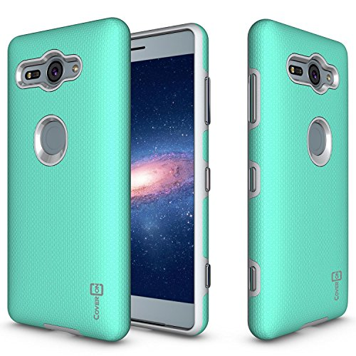 Alle Metro Pcs Handys (Sony Xperia XZ2Compact Fall, coveron [Rugged Serie] Dual Layer Schutzhülle Harte Armor Handy Cover für Sony Xperia XZ2Compact, Mint Teal)