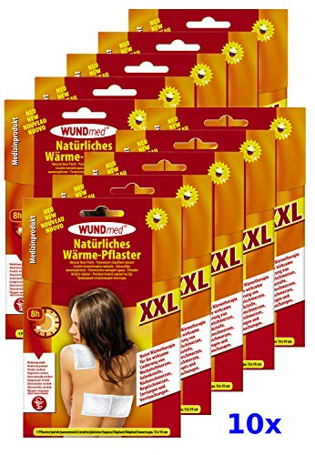 10x XXL Wärmepflaster 13 x 19cm Schmerzpflaster Wärmepads Rücken Schulter