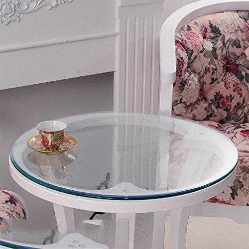 Mesa redonda de vidrio suave, mantel redondo de PVC impermeable, mante