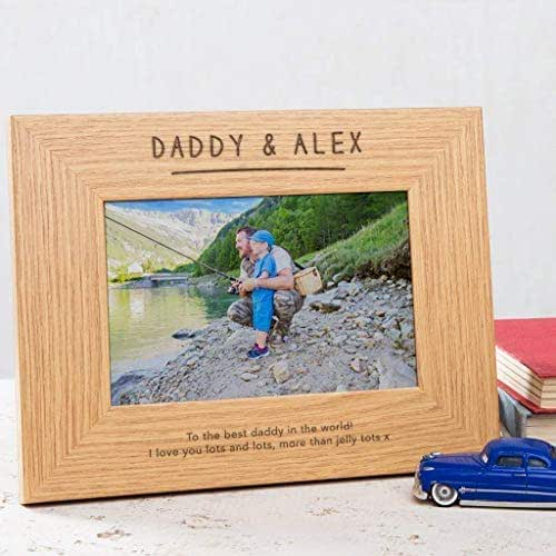 Personalised Daddy Photo Frame - Personalised Daddy Gifts - Dad Picture  Frame - Fathers Day Present Idea from Son and Daughter - 6x4 / 7x5 / 8x6