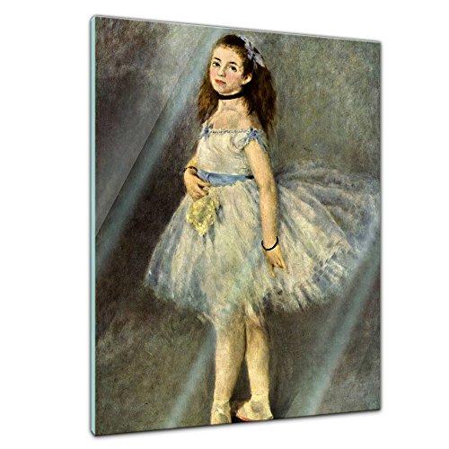Glasbild Pierre-Auguste Renoir - Alte Meister - Die Balletttänzerin - 60x80cm - Deko Glas - Wandbild aus Glas - Bild auf Glas - Moderne Glasbilder - Glasfoto - Echtglas - kein Acryl - Handmade