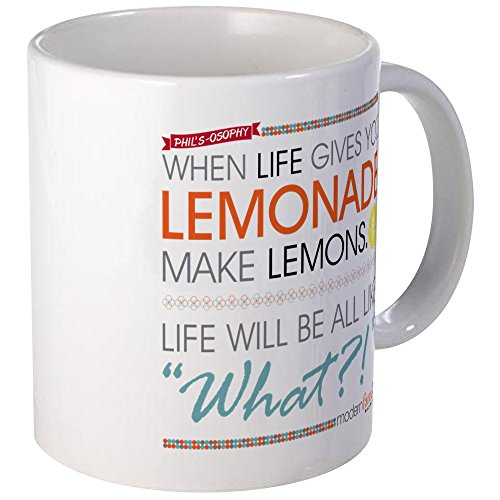 Modern Family Phil'CafePress Kinder-Becher Fernsehfilm osophy Lemonade, keramik, weiß, Größe S