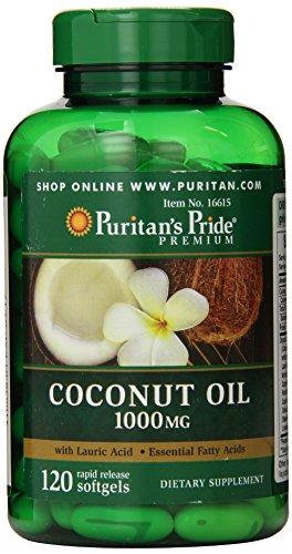Kokosnuss-Öl 1000mg mit essentiellen Fettsäuren 120 Softgels