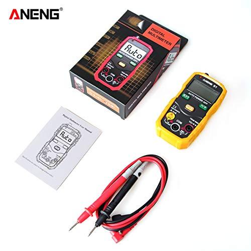 Noradtjcca LCD Digital Multimeter Mini DC/AC Spannungsmesser Handheld Diode NCV Tester Taschenlampe Multitester