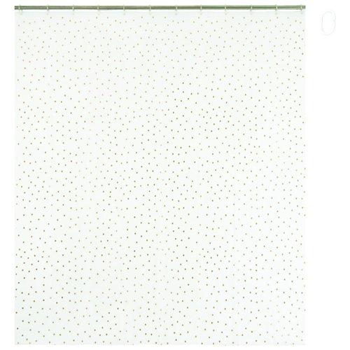 Opportunity 11K16000003–Cortina de Ducha con Anillos plástico Lunares Dorado, 180x 200cm